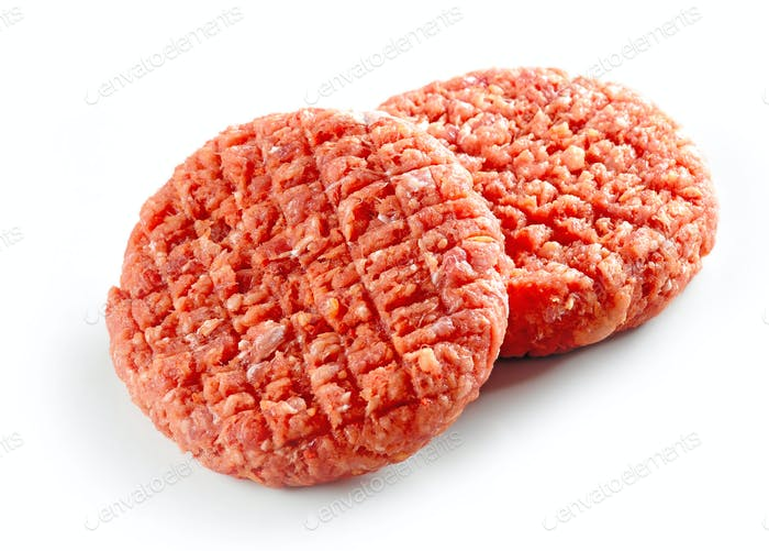 raw spicy burger meat