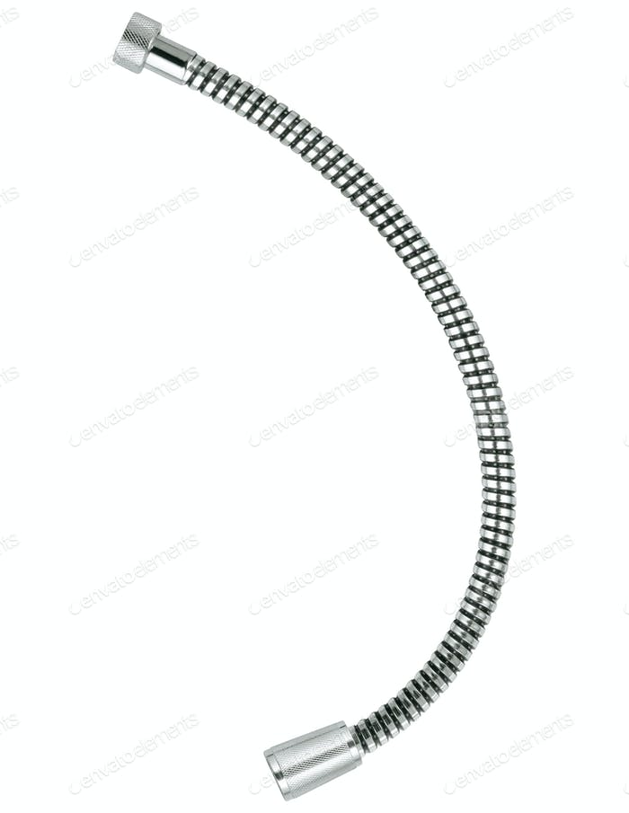 Shower hose isolated on white