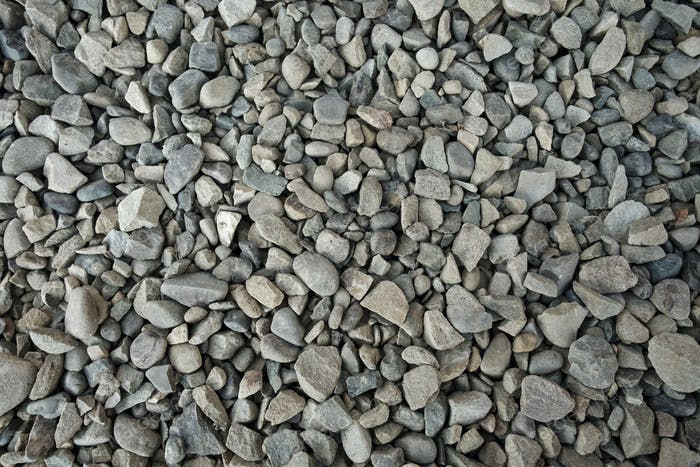 Background texture of grey gravel