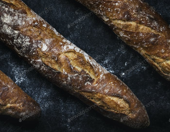 Close up of baguettes photography recipe idea