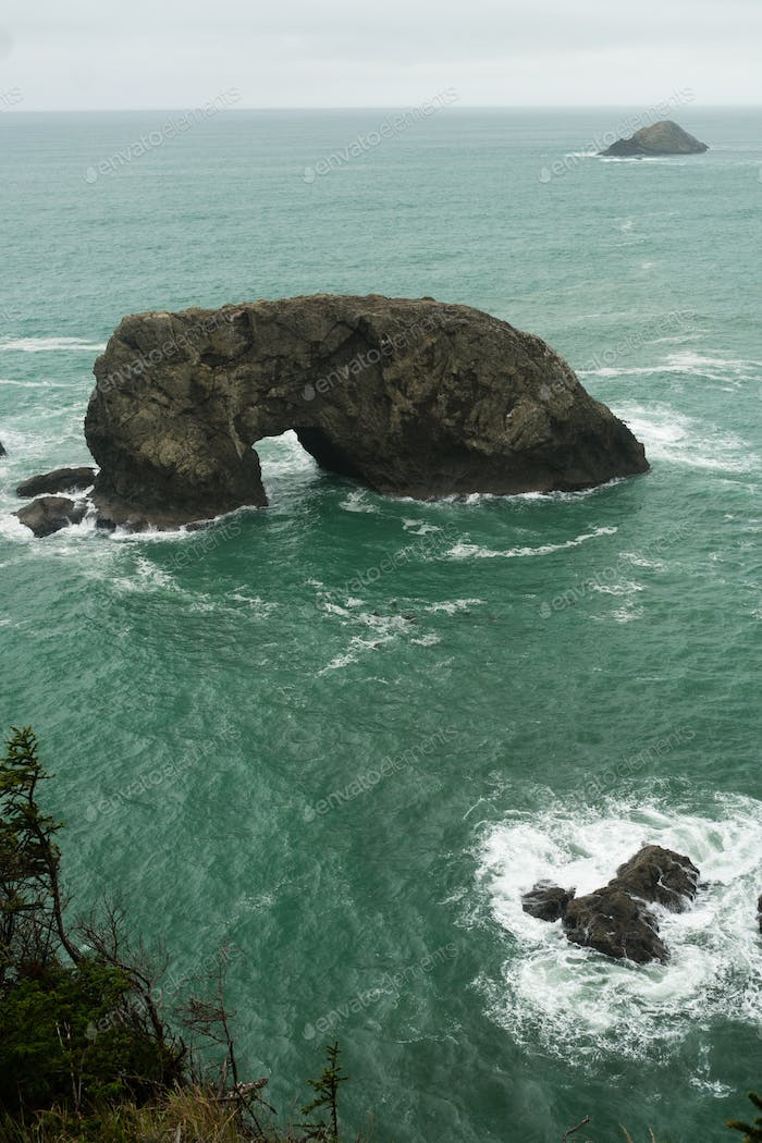 Arch Rock Pacific Ocean Oregon Coast United States