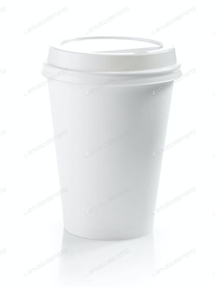 Kaffeetasse aus weißem Papier