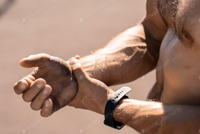 Verletzte Handgelenk