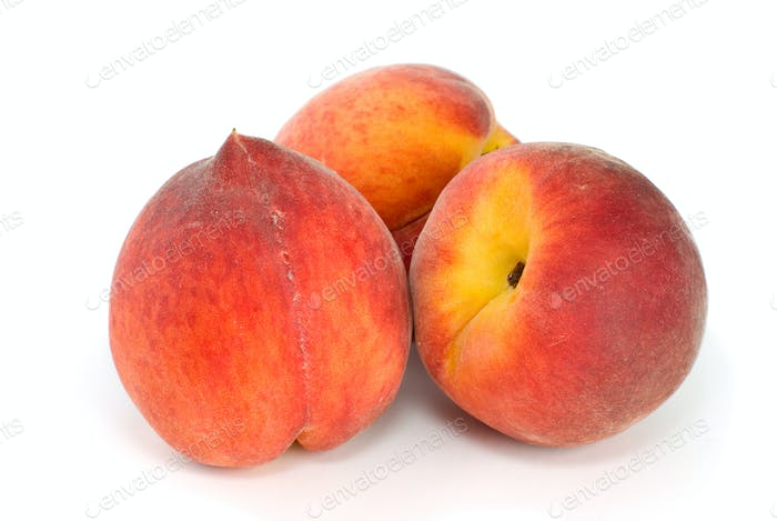 Three tasty peaches