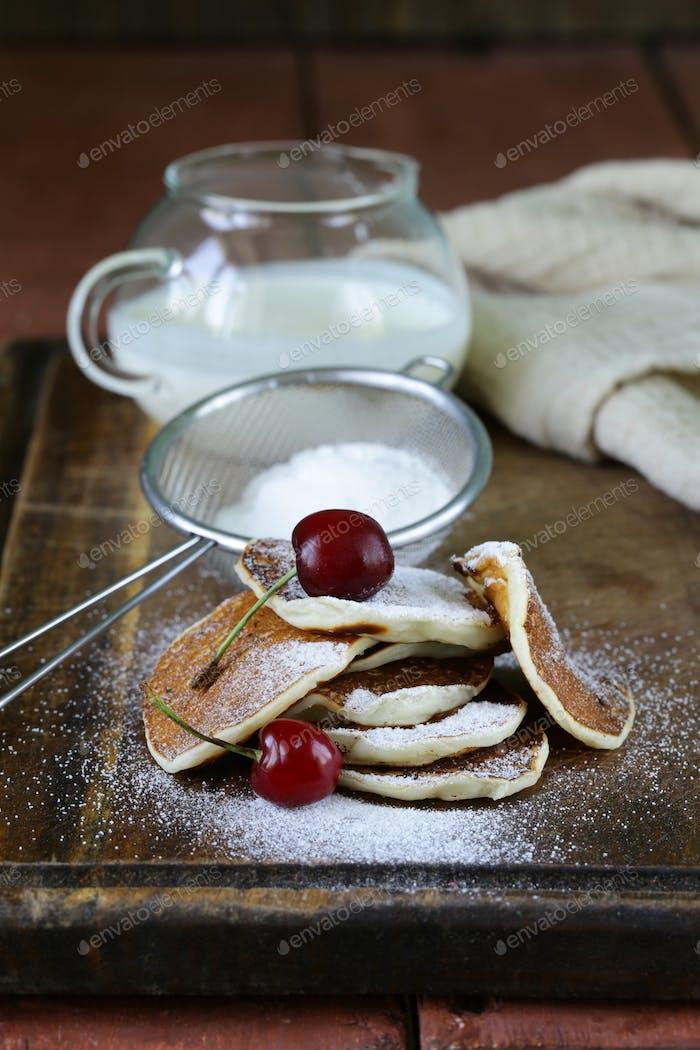 Süße Dessert Pfannkuchen