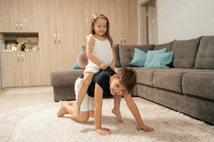 Happy childhood, time together at home