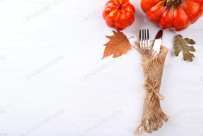 Herbst-Tischeinstellung