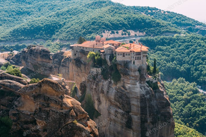 Meteora monasteries, Greece. Varlaam monastery