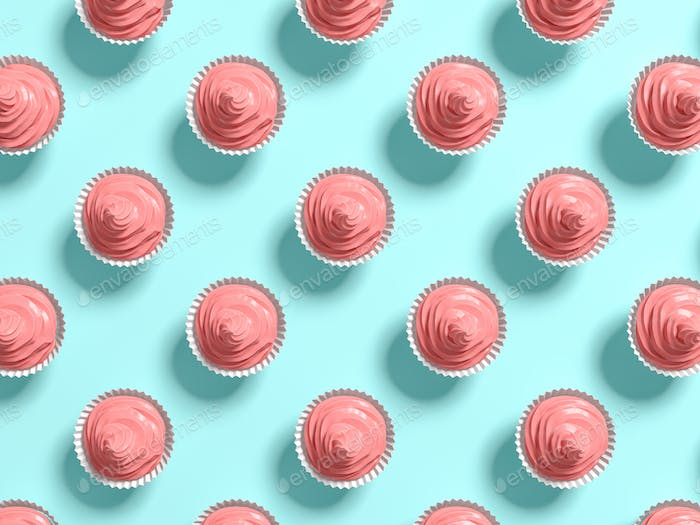 Punchy pastels cake abstract background 3D illustration