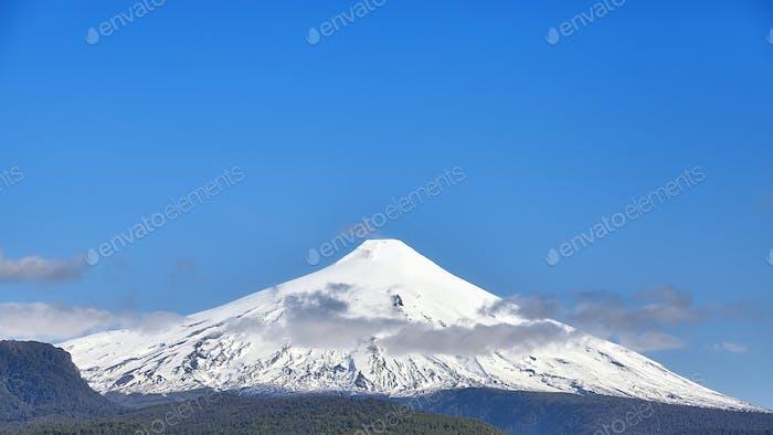 Panoramic view of the Villarrica volcano, Chile