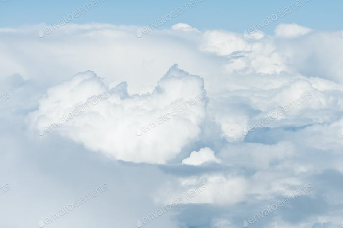 heavy clouds from above