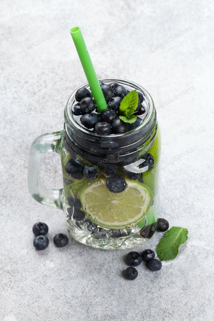Fresh lemonade jar