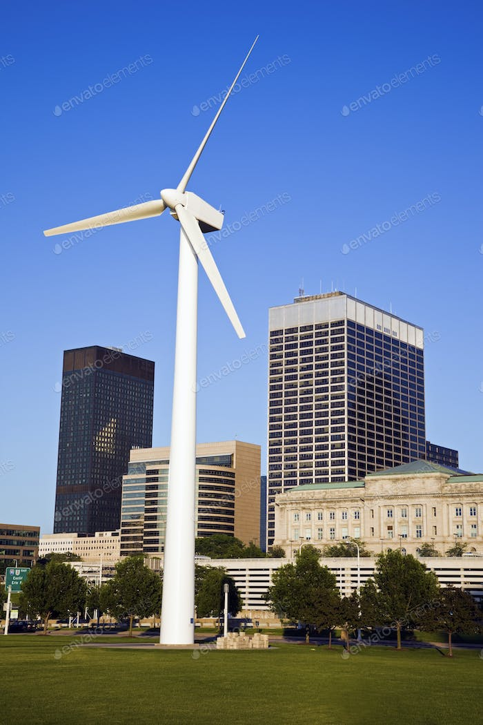 Wind turbine in Cleveland