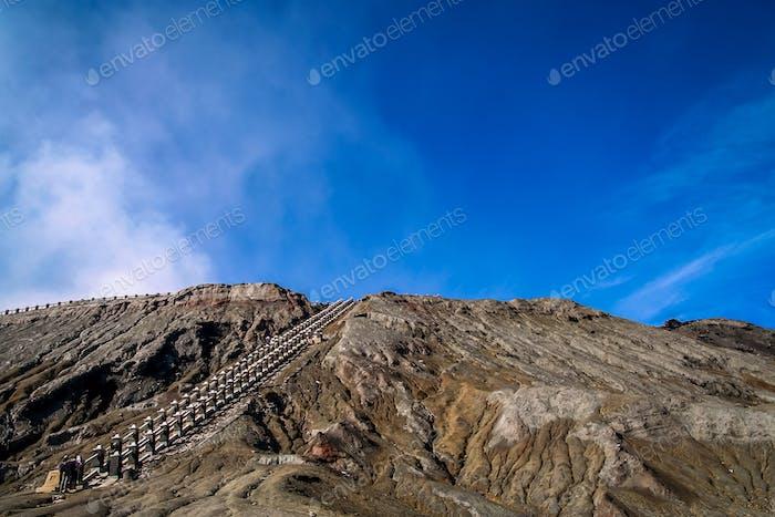 Treppen zum Bromo Krater