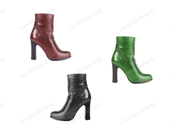 Set of women boots