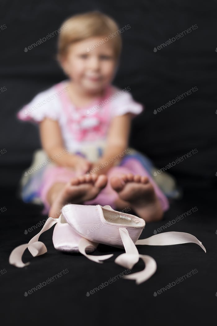 Girl With Ballerina Shoes
