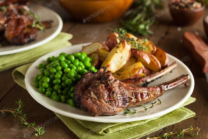 Bio Lammkoteletts vom Grill