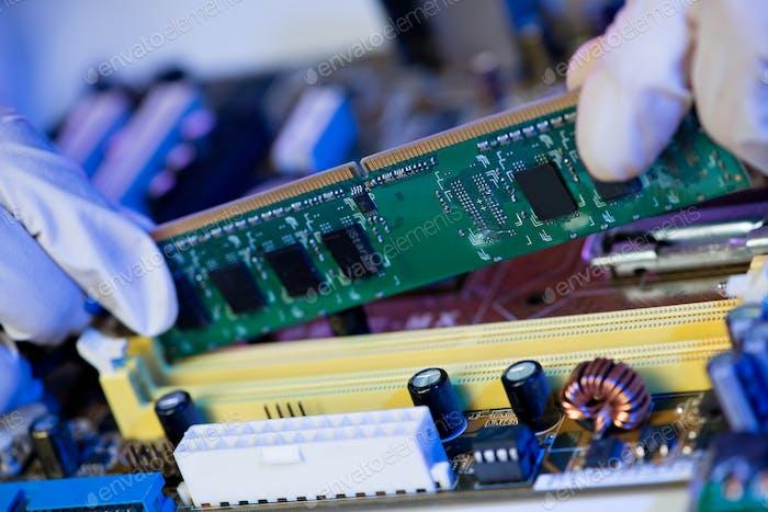 Installing electronic circuit board
