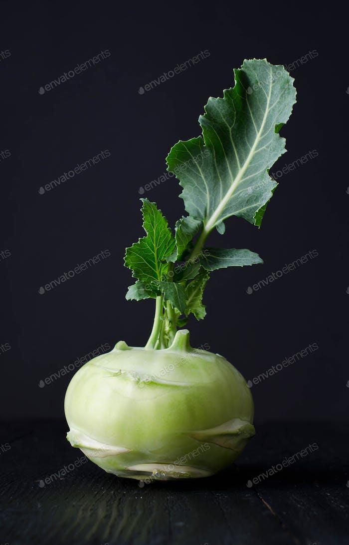 Kohlrabi or french turnip