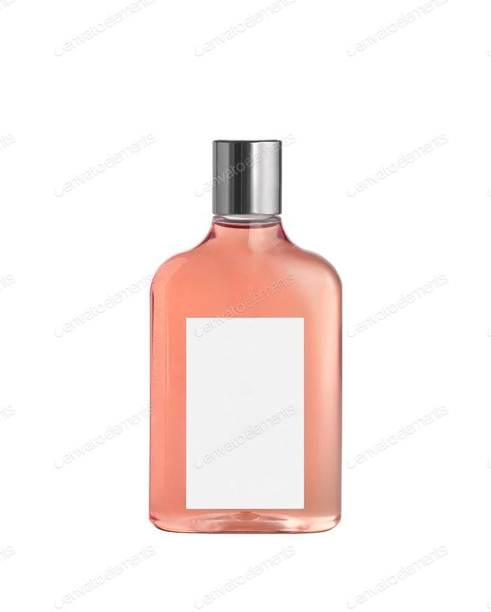Pink aroma bottle isolated on white