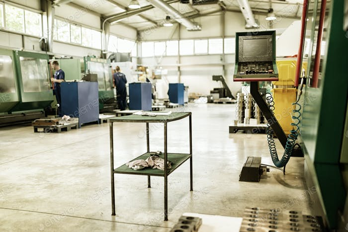 Factory equipped with cnc machines