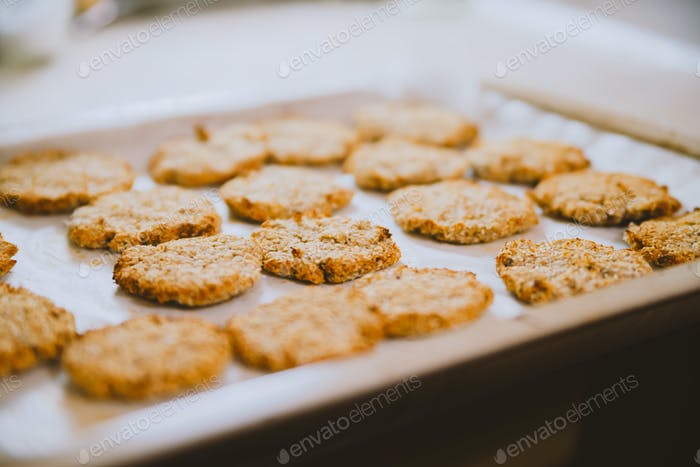 Oatmeal cookies on the table