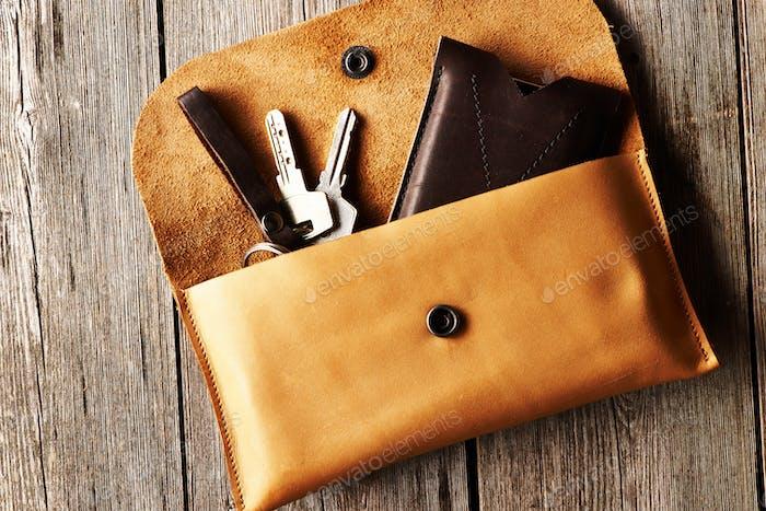 Handgefertigtes Lederprodukt