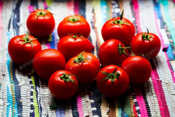 Rote Tomaten Tageslicht, Draufsicht