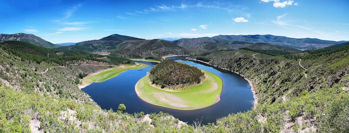 Meander of the Alagon River Known as Melero meander