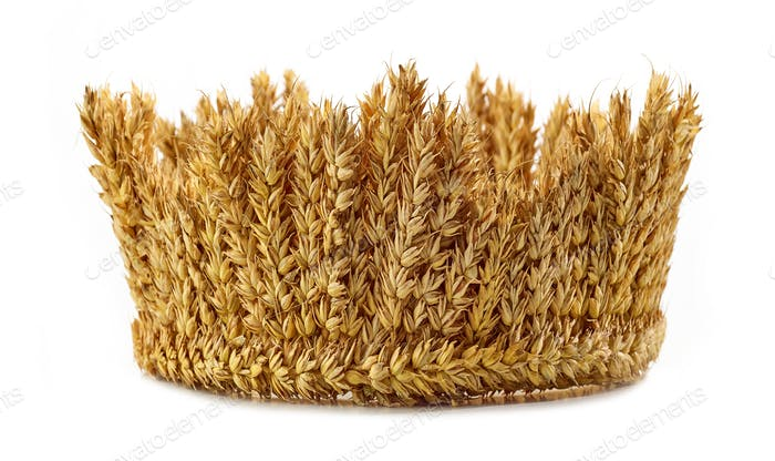 crown made of wheat ears of cereals