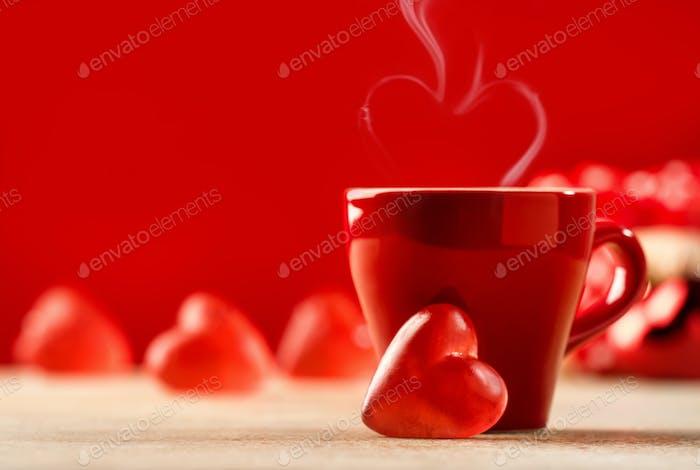 Valentinstag Feier oder Liebeskonzept.