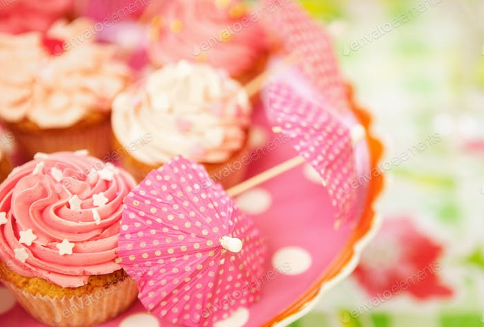 Cupcakes at a Birthday Party