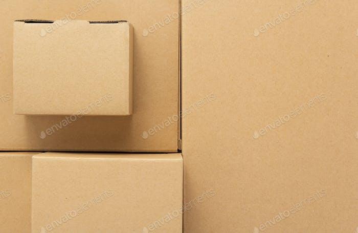 Karton als Hintergrund