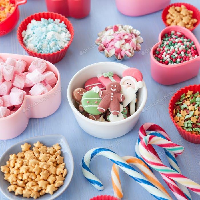 Zuckerhaltige Backdekorationen