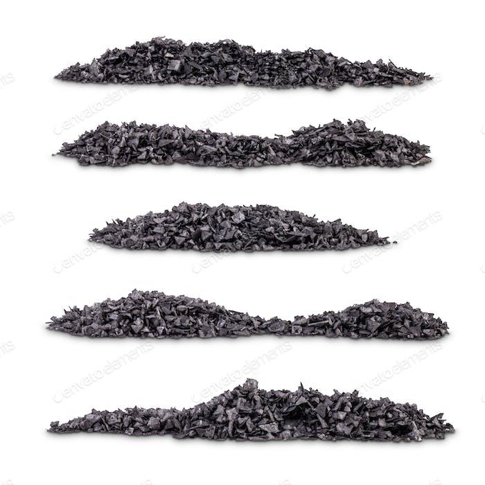 Plie of black salt