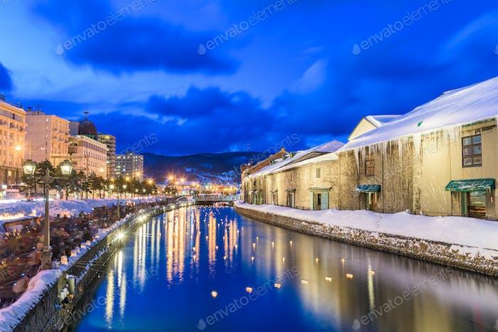 Otaru, Japan Winter Canal