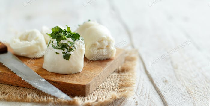 Italian mozzarella sticks stuffed with ricotta