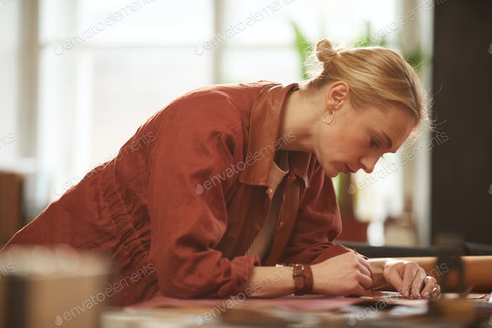 Attractive Female Artisan Working