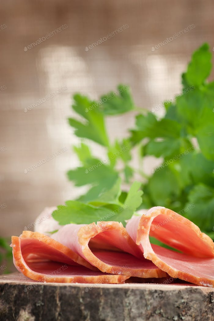 Ham on wood