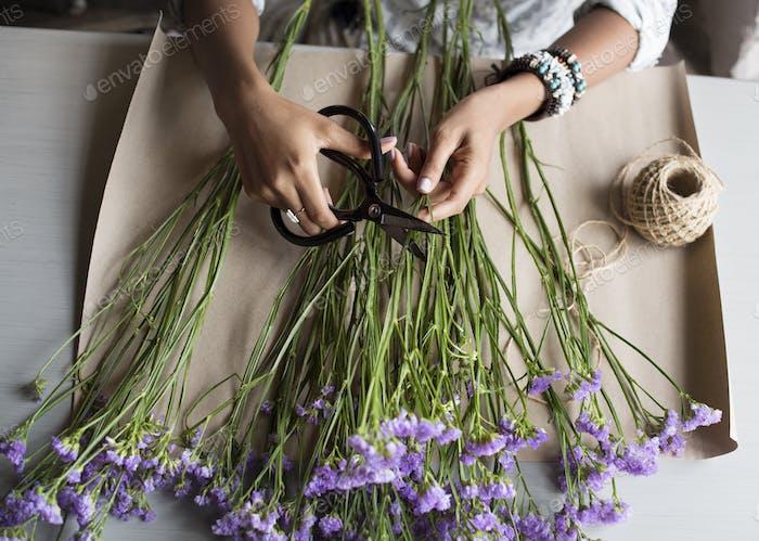 Fresh Statis Flowers Arrangement Decorative