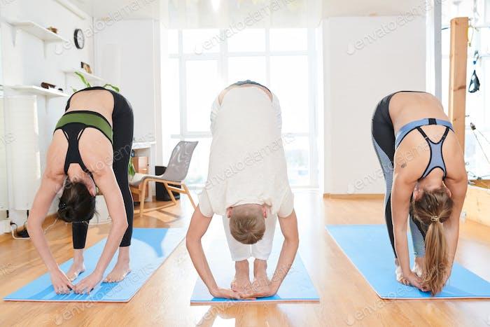 Intense forward-bending pose