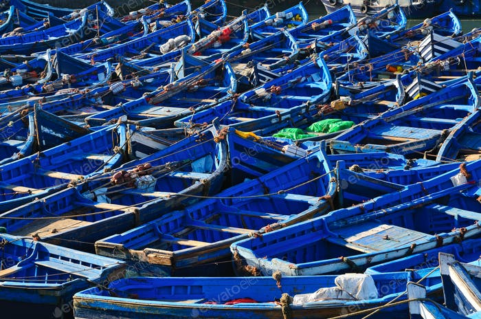 Blue boats background