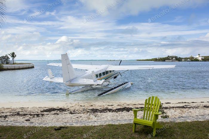 seaplane at tropical resort
