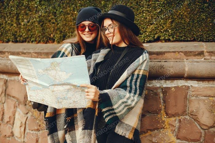Tourist Mädchen