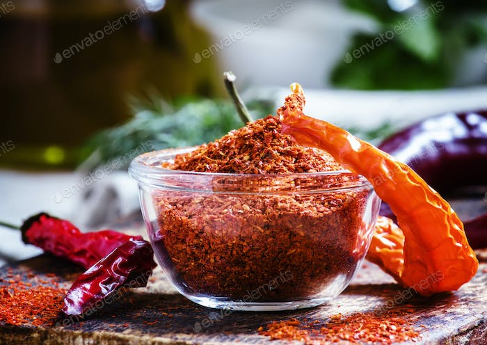 Ground dried red cayenne pepper