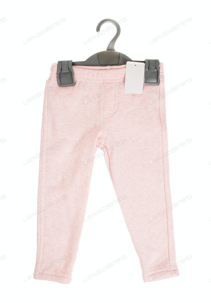 Cotton pink sport pants for childrens.