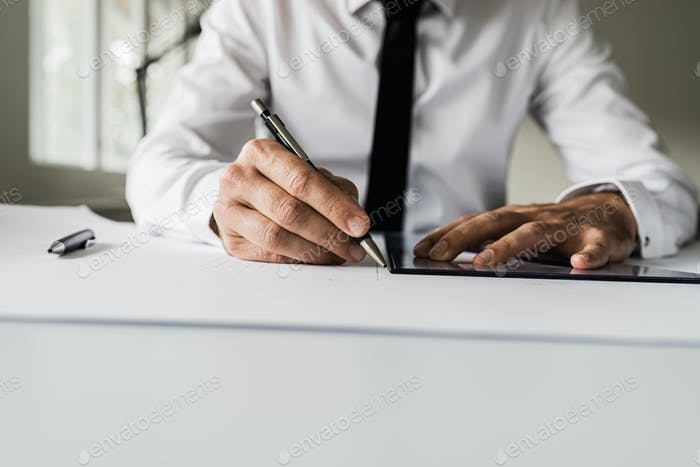 Architect or designer working