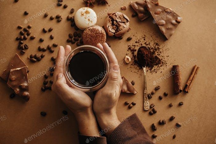 Coffee moody Flat lay