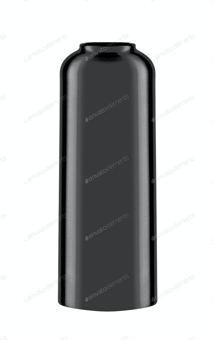 metal bottle water isolated white background