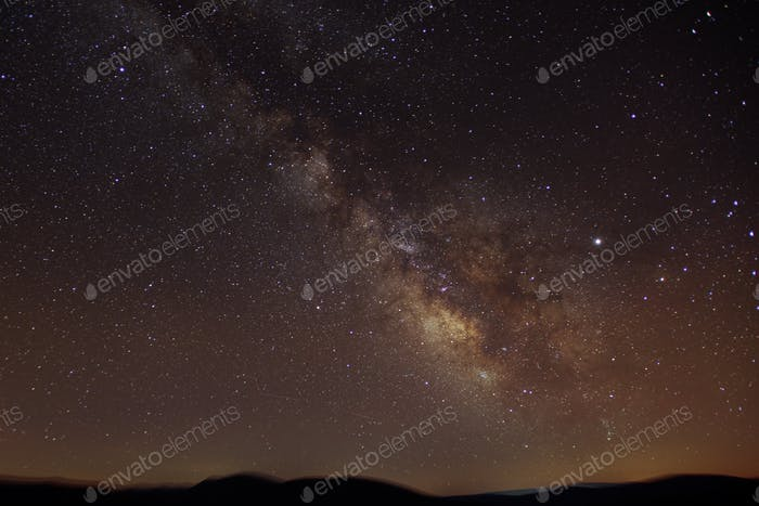 Milkyway On A Clear Starry Summer Night